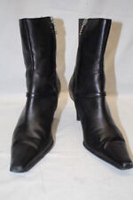 "CIRCA Black Leather ""Sulivan"" Ankle Booties , Pointed Toe, Womens Size 10M-B70"