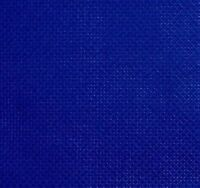 "59"" X 1 Yard 14 count Royal blue Cotton Aida Cloth Cross Stitch Fabric"