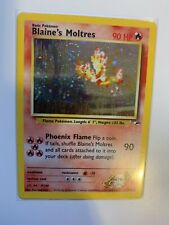 New listing Blaine's Moltres Holo Unlimited 1/132 - Pokemon Gym Heroes