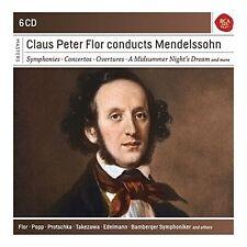 CLAUS PETER FLOR CONDUCTS MENDELSSOHN - FLOR/BAMBERGER SYMPH/POPP/... 6 CD NEU