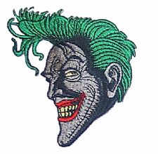 "Batman Comic Series Joker Grinning 3 1/4"" Tall Embroidered Iron on Patch"