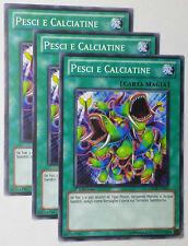 Set 3X   PESCI E CALCIATINE   GENF-IT053 Comune in Italiano YUGIOH