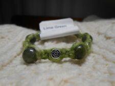 Celtic Irish Lime Green Donegal Aran Tweed & Connemara Marble Bracelet