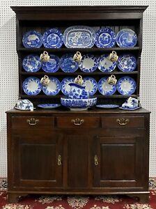 Antique Period Oak Welsh Dresser Cupboard Sideboard Buffet Circa 1780