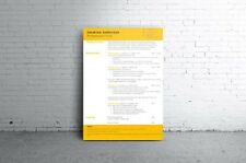 Cv/Resume 5-Pack Templates + Bonus Corresponding Cover Letters *Download
