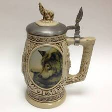 Tribute to the North American Wolf Beer Stein 1997 Avon NEW IN BOX-MINT