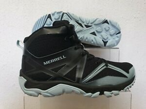 MERRELL WATERPROOF WALKING BOOTS SHOES MQM EDGE HIKING BLACK UK 4.5 US 7