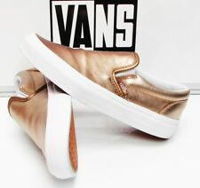449aecfb50b VANS CLASSIC SLIP-ON (METALLIC LEATHER) ROSEGOLD VN-0003Z4IGA WOMEN S SIZE