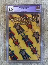 WORLD'S FINEST COMICS #37 CGC Restored Grade 2.5 DC Comics Superman Batman