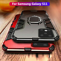 For Samsung Galaxy S11 A51 A71 Magnetic Hard Armor Ring Stand Holder Case Cover