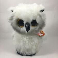 2020 TY Beanie Boos AUSTIN the White Owl Stuffed Animal Toy Plush (6 Inch) MWMTs