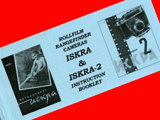 ENGLISH MANUAL fr ISKRA and ISKRA-2 camera medium format 6x6 INSTRUCTION BOOKLET