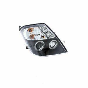 Citroen C2 2003-2010 Black Angel Eye Halo Head Light Lamp Pair Left & Right
