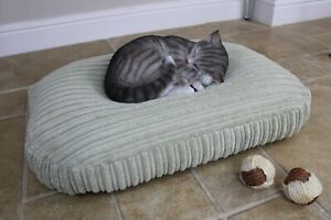 Bean Bag Cat Bed, Calming Pet Cushion Nesting Bed, Soft Plush Washable Cover.