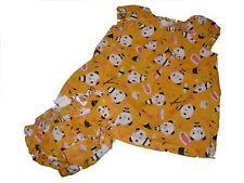 H & M mignonne robe + couche culotte taille 62 jaune avec motifs PANDA!!!