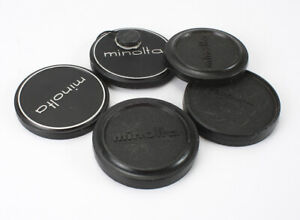 MINOLTA CAPS, FRONT LENS, VARIOUS SLIP ON, LOT OF FOUR/190764