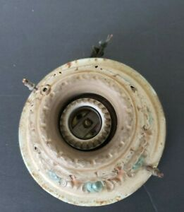 Antique 1920s metal ceiling light great condition