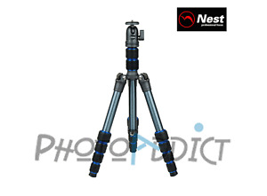 NEST 6235AK - Compact Aluminum Tripod Kit with Screw Ring Closure