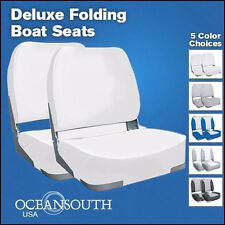 Deluxe White Folding Boat Seats x 2