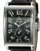 GEVRIL MENS 5033 AVENUE OF AMERICAS TRIPLE CALENDAR MOONPHASE WATCH MSRP $6995