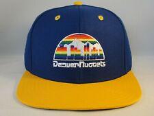 Denver Nuggets NBA Adidas Snapback Hat Cap Blue Gold
