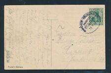 34247) Bahnpost Ovalstempel  Hagenow - Neumünster Zug 1310, Karte 1914