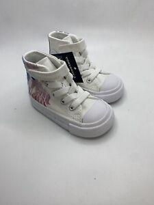 Converse Kids Frozen II White Tennis Shoes Size 4 #767349f (aa80)