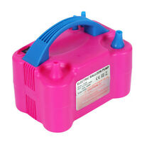 110V Electric High Power Two Nozzle Air Blower Balloon Inflator Pump Fast U8H3
