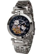 Minoir Uhren - Modell Niort II silber/blau - Automatikuhr, Herrenuhr