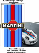 Le Mans Martini Racing style Stripe and Logo Porsche 911 Sticker decal A648LL