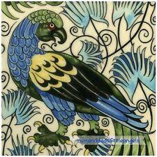 Art and Crafts William de Morgan perroquet oiseau C Carreau Céramique Théière Plant stand
