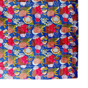 Kantha Quilt Indian Handmade Cotton Quilt Vintage Blanket Bohemian Kantha Decor