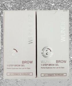 WUNDER2 1-STEP Brow Gel Color Brunette ( 2 pack)