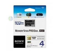 Sony 4GB Memory Stick PRO Duo Card Mark2 MSMT4GN For Cyber-shot - Cameras - PSP