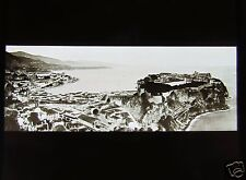 ROSCH Glass Magic lantern slide MONACO PANORAMA C1900 FRENCH RIVIERA