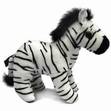 15cm Zebra With beans Soft Toy by Dowman - Plush Cuddly Safari Animal Toy