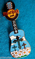 NASHVILLE SILVER CROSS GOOD FRIDAY CHRIST CRUCIFIXION GUITAR Hard Rock Cafe PIN
