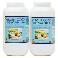 Organic Manila Coco 100% Virgin Coconut Oil NUTRIENT-FULL Desiccated 2x32oz=64oz