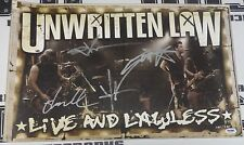 Unwritten Law Signed 13x20 Live and Lawless Limited Ed Lithograph PSA/DNA Poster