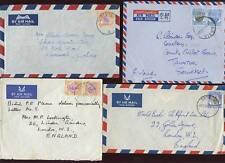 MALAYA 1959-65 AIRMAIL...GRIK LABIS TRONOH...4 COVERS