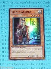 Yu-gi-oh Shien's Advisor EXVC-EN029 Super Rare Mint 1st Edition New