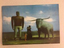 "Paul Bunyan And Babe Blue Ox Minnesota Giant Vintage Postcard 7""x10"" Bemidji Mn"