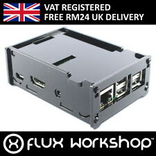 Raspberry Pi 2 DIY Acrylic Black Case with 2 Heatsinks B Flux Workshop
