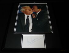 Mike Wallace Signed Framed 11x14 Photo Display CBS Mike & Buff 60 Minutes B