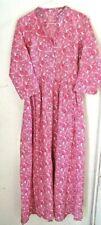 Vintage Dress Pioneer Woman Costume Pink White Women's S/M Handmade Long Length