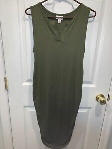 ingrid isabel maternity Dress Medium Ruched Sides Green NWOT