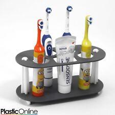 Electric Toothbrush Holder Toothpaste Holder 4x Toothbrush Stand Matt Grey White