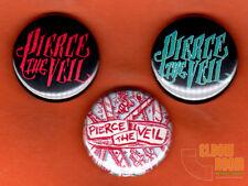 "Set of three 1"" Pierce the Veil  pins buttons alternative band group"