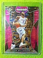 ZION WILLIAMSON PRIZM ROOKIE CARD JERSEY #1 DUKE REFRACTOR RC 2019 PELICANS PINK