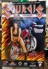 2006 Sturgis Motorcycle Rally Lucas Oil Poster Biker Penthouse Babe Krista Ayre